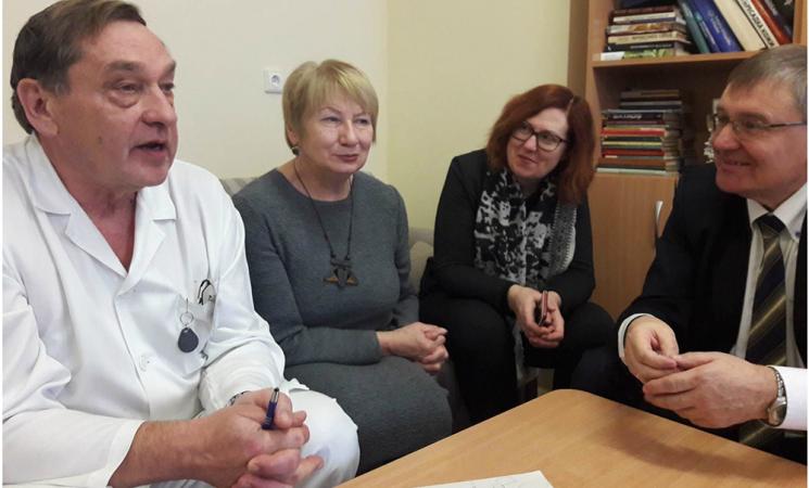 Socialdemokratų frakcijos nariai lankėsi gydymo įstaigose