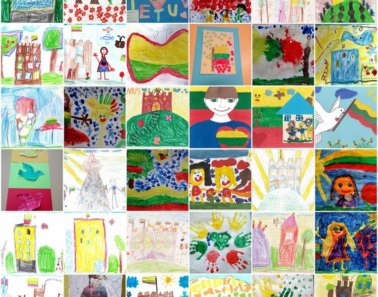 """Vaikų piešinių konkursas """"Laisva Lietuva – 28"""""""
