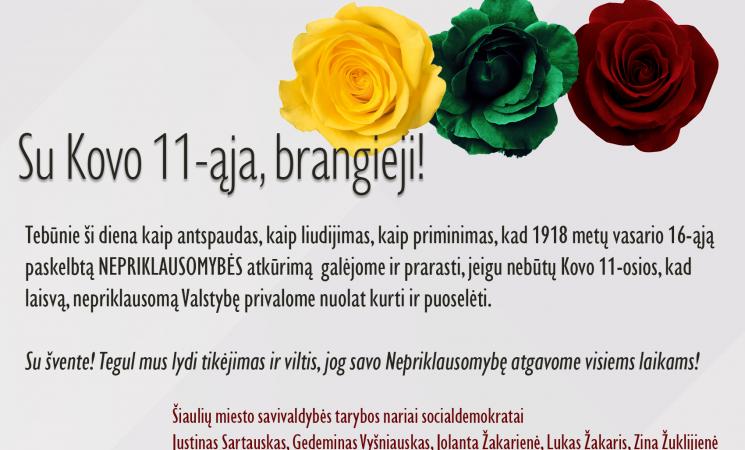 Sveikina Šiaulių miesto savivaldybės tarybos nariai socialdemokratai