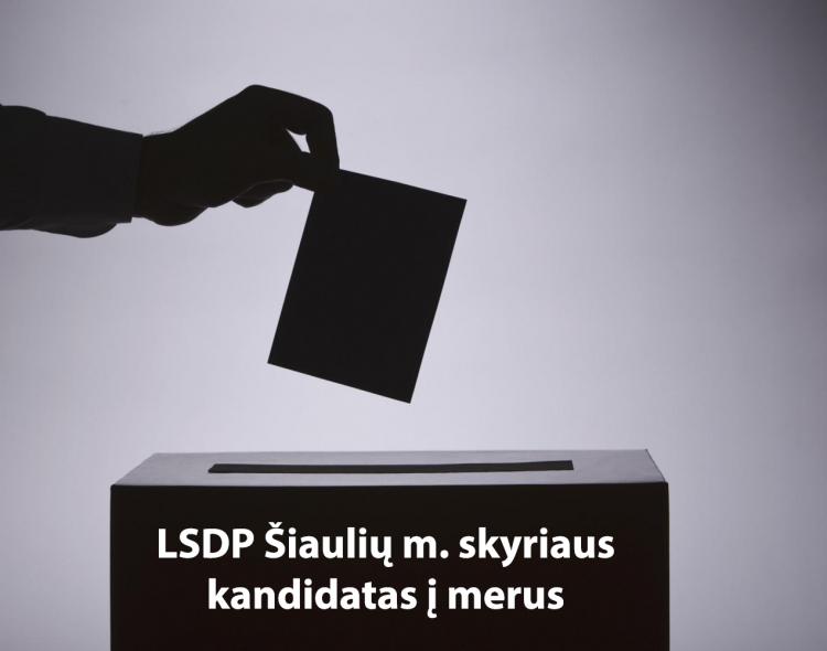 LSDP Šiaulių m. skyriaus visuotinis balsavimas