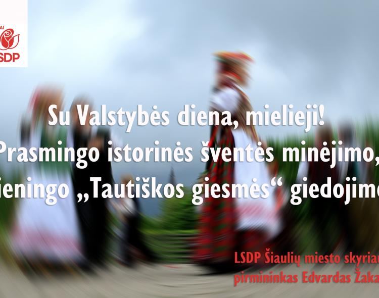 Su Valstybės (Lietuvos karaliaus Mindaugo karūnavimo) diena