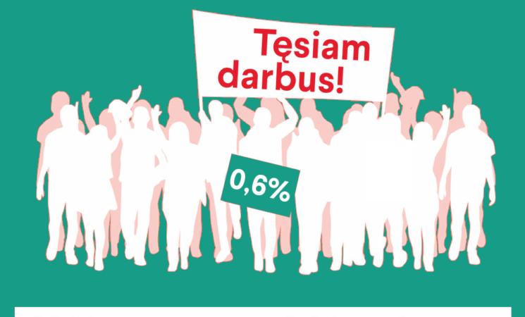 Skirkite 0,6% socialdemokratams