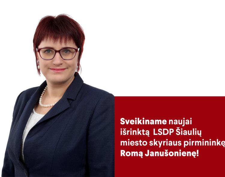 Naujoji skyriaus pirmininkė Roma Janušonienė